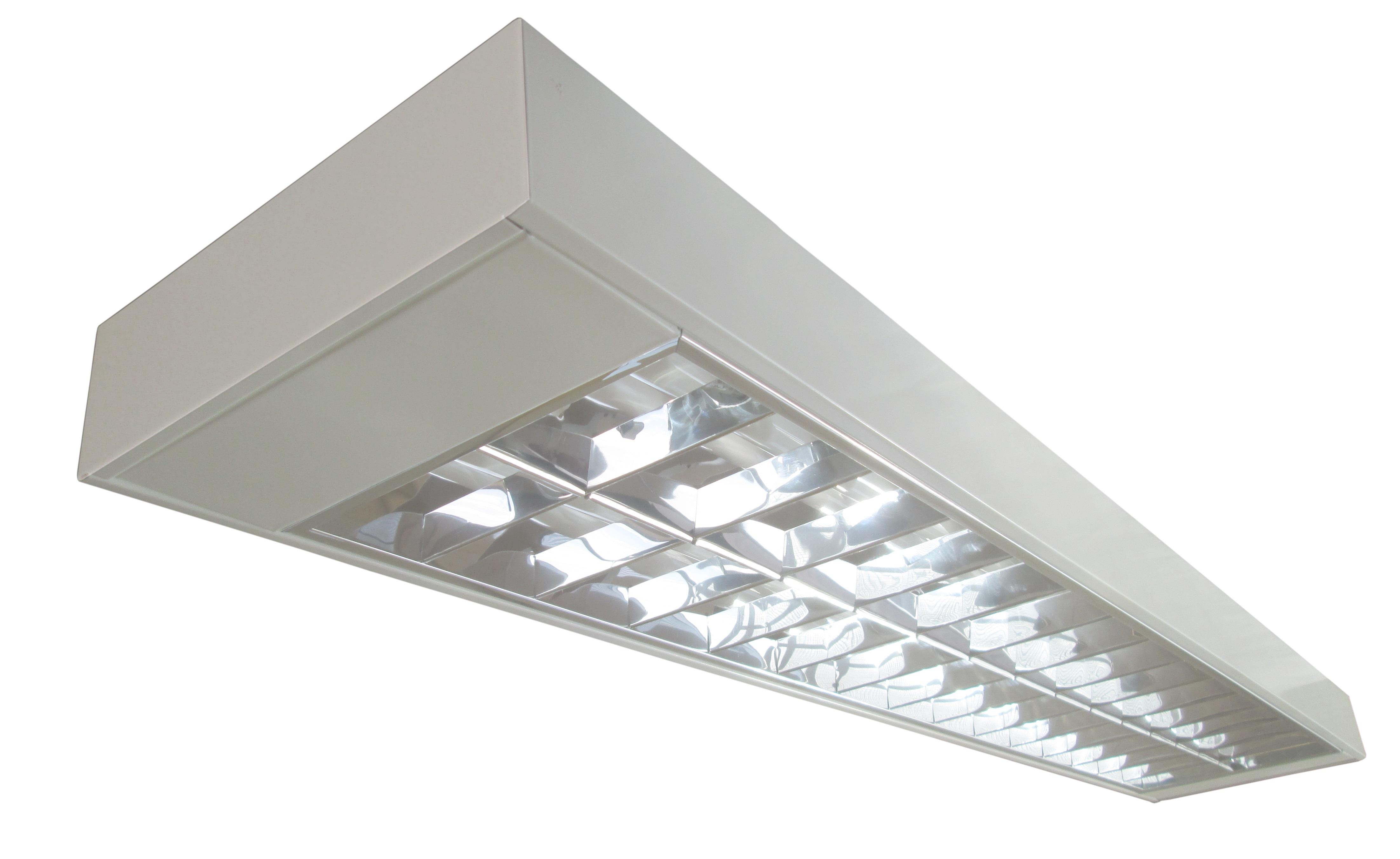 Lumin ria de sobrepor refletor e aletas 2 lampadas de 28 for Luminarias de exterior led